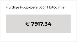 De Bitcoin-koers in euro's toen ik ze kocht op 30 november 2017.